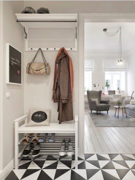 Фотография: Прихожая в стиле Скандинавский, Декор интерьера, Квартира, Декор, Белый, Бежевый, Серый – фото на INMYROOM