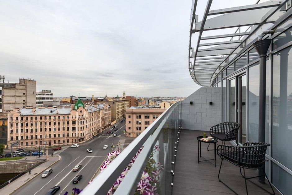 Фотография: Балкон в стиле Современный, Скандинавский, Квартира, Проект недели, Санкт-Петербург, 1 комната, 40-60 метров, Архитектура Интерьера – фото на INMYROOM