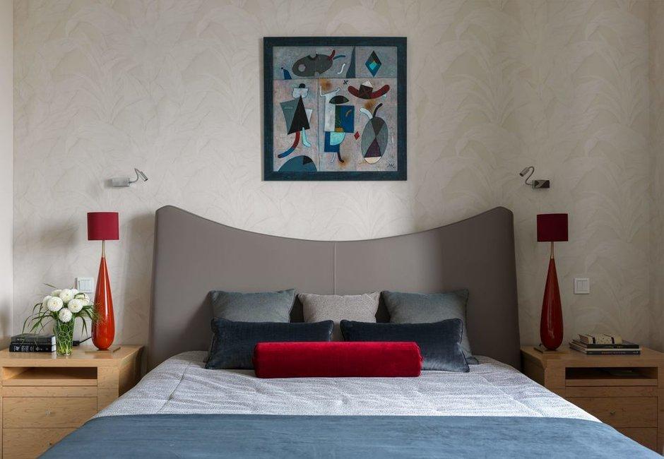 Фотография: Спальня в стиле Современный, Квартира, Проект недели, Москва, Олеся Шляхтина, 4 и больше, Более 90 метров, Монолитно-кирпичный, #эксклюзивныепроекты – фото на INMYROOM