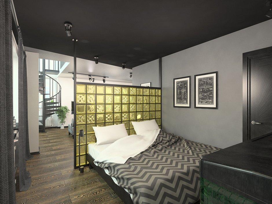 Фотография: Спальня в стиле Лофт,  – фото на INMYROOM