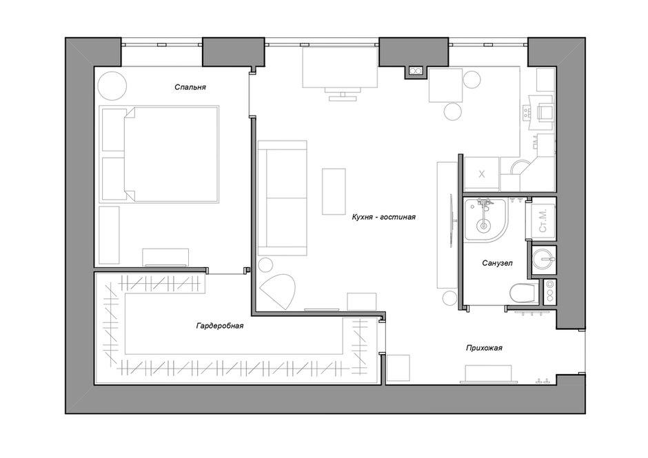 План квартиры после ремонта
