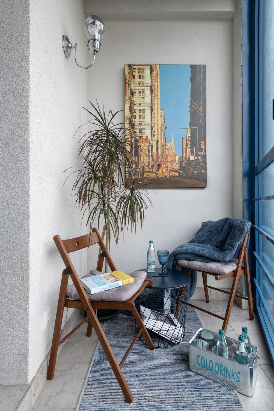 Фотография: Балкон в стиле Современный, Малогабаритная квартира, Квартира, Проект недели, Москва, 1 комната, 40-60 метров, Светлана Краснова – фото на INMYROOM