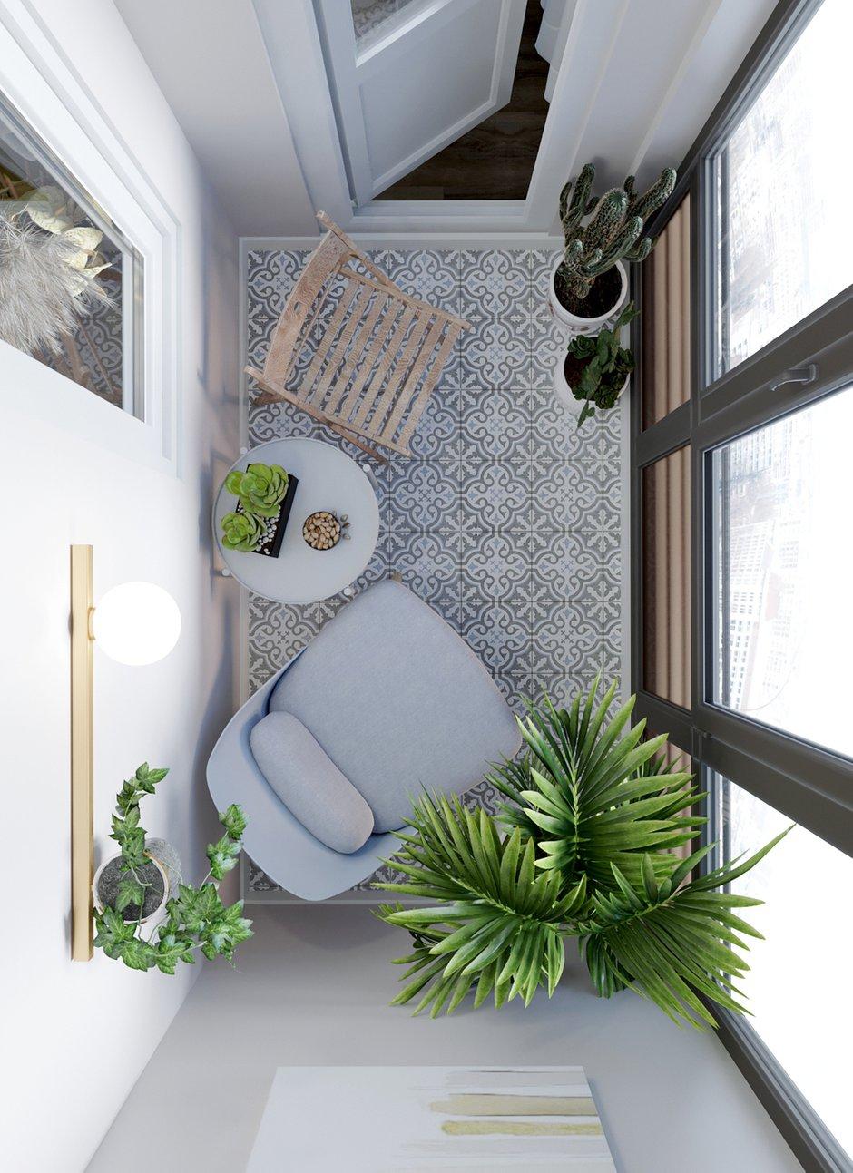 Фотография: Балкон в стиле Современный, Квартира, Студия, Проект недели, Одинцово, Монолитный дом, до 40 метров, Ольга Бойцова – фото на INMYROOM