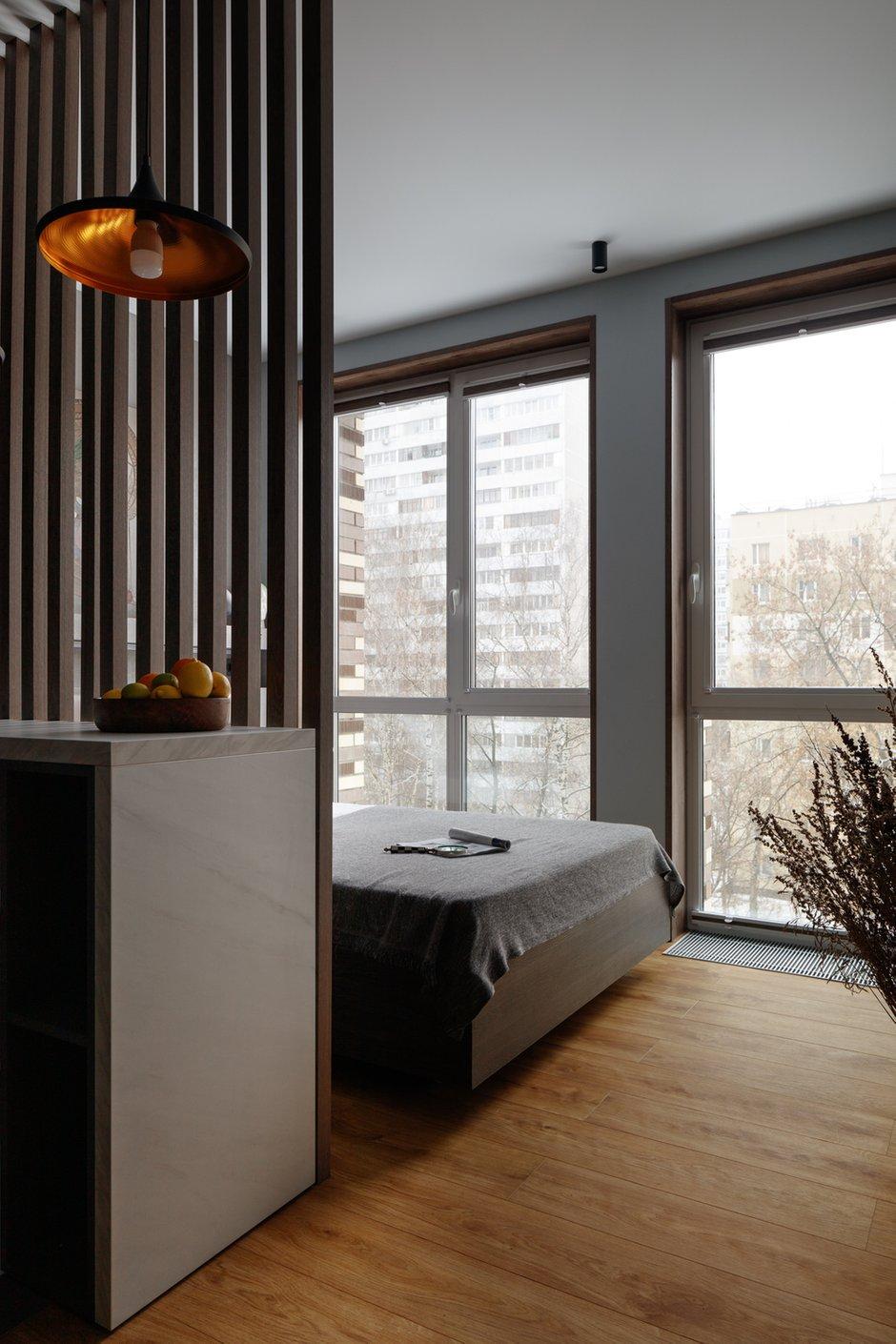 Фотография: Спальня в стиле Современный, Малогабаритная квартира, Квартира, Студия, Проект недели, Москва, до 40 метров, Анастасия Калистова, Kalistova.Interior – фото на INMYROOM