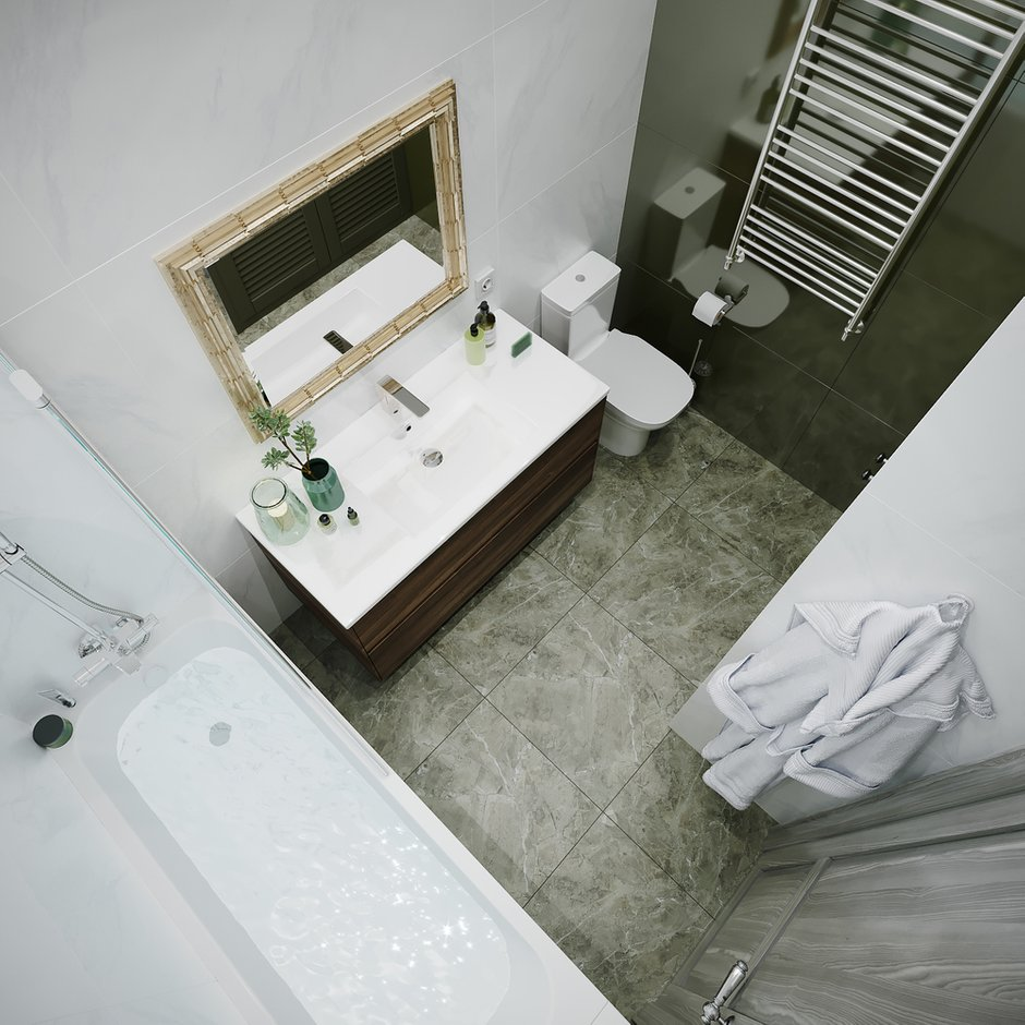 Фотография: Ванная в стиле Современный, Квартира, Советы, 2 комнаты, #каксэкономить, Светлана Удзилаури – фото на INMYROOM