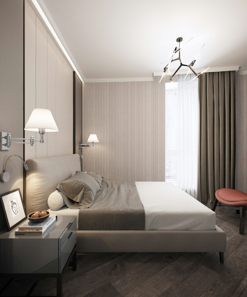 Фотография: Спальня в стиле Современный, Квартира, Проект недели, Москва, Евгения Матвеенко, FlatsDesign, Монолитный дом, 4 и больше, Более 90 метров – фото на INMYROOM