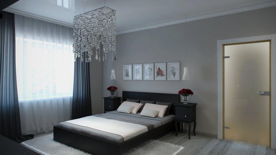 Фотография: Спальня в стиле Современный, Декор интерьера, Квартира, Цвет в интерьере, Дома и квартиры, Проект недели, Стены – фото на INMYROOM