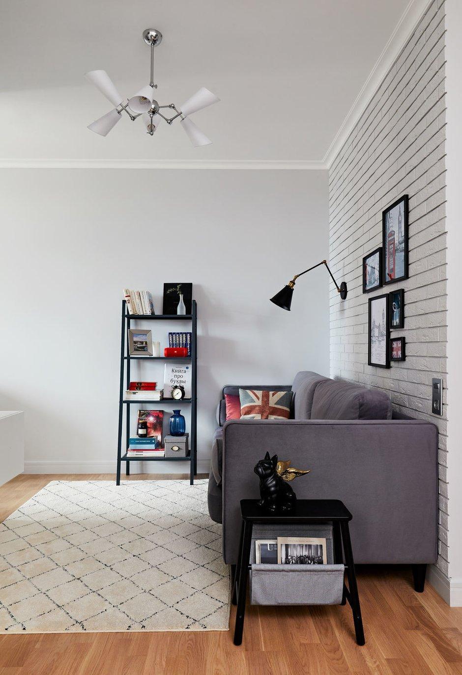 Фотография: Гостиная в стиле Современный, Квартира, Студия, Проект недели, Долгопрудный, 1 комната, до 40 метров, Марина Каралкина – фото на INMYROOM
