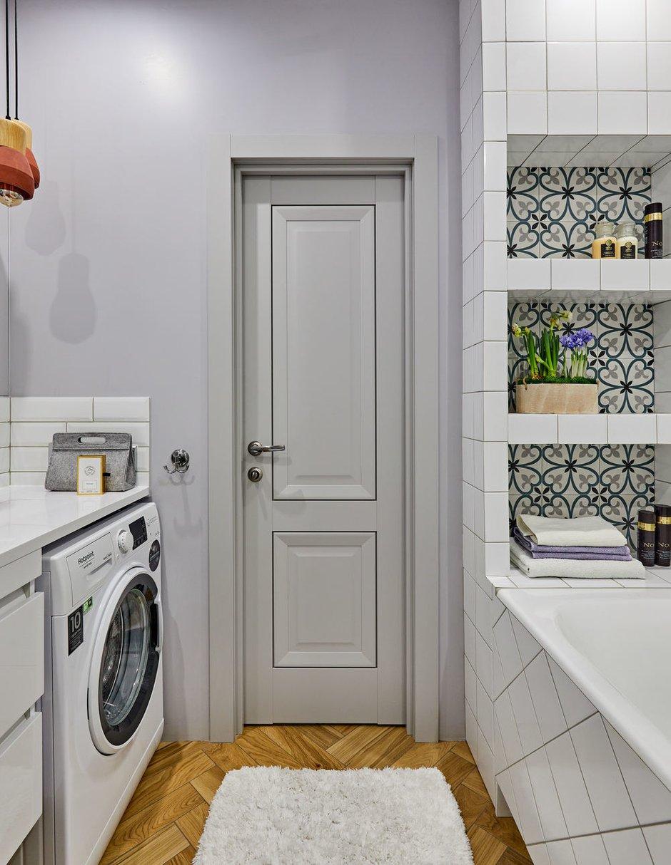 Фотография: Ванная в стиле Современный, Квартира, Студия, Проект недели, Долгопрудный, 1 комната, до 40 метров, Марина Каралкина – фото на INMYROOM