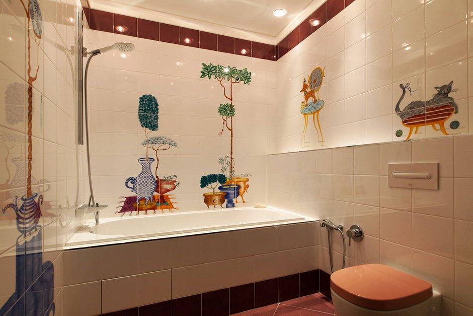 Фотография: Ванная в стиле Современный, Квартира, Италия, Дома и квартиры, Пентхаус, Люстра, Ар-деко – фото на InMyRoom.ru