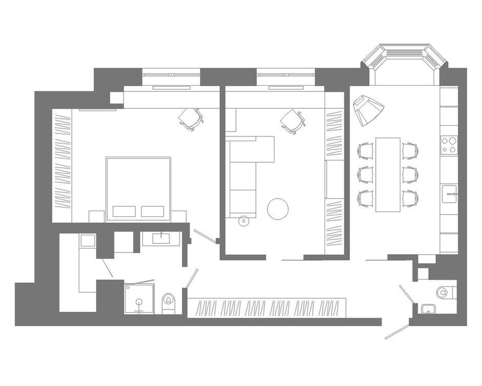 Фотография: Планировки в стиле , Квартира, Минимализм, Проект недели, Санкт-Петербург, 2 комнаты, Более 90 метров, Background studio – фото на INMYROOM