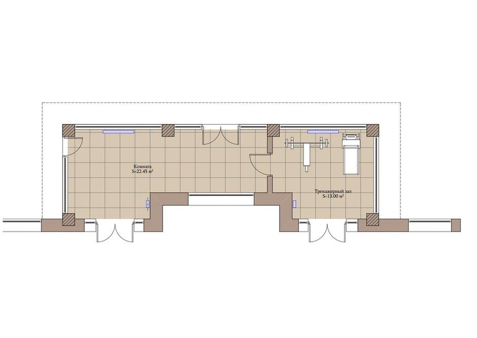 План веранды с расстановкой мебели