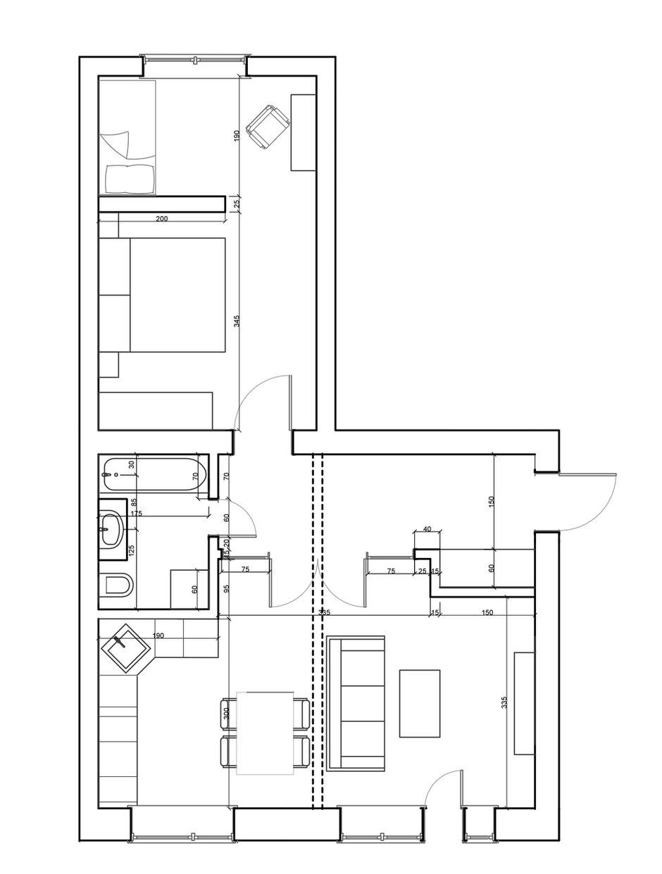 Фотография: Планировки в стиле , Квартира, Проект недели, Москва, Кирпичный дом, Катя Алагич, Илья Гульянц, El Born Studio, дом серии II-14 – фото на INMYROOM