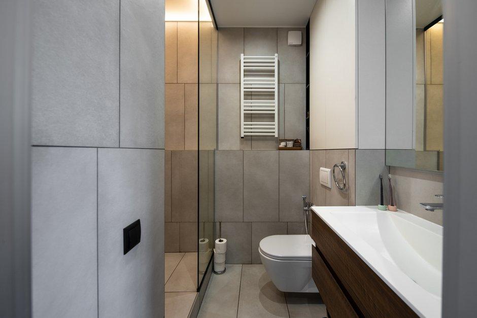 Фотография: Ванная в стиле Минимализм, Скандинавский, Квартира, Украина, Проект недели, 2 комнаты, 60-90 метров, Lauri Brothers – фото на INMYROOM