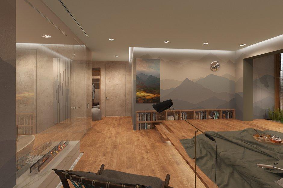 Фотография: Спальня в стиле Минимализм, Квартира, Проект недели, Москва, Эко, Монолитный дом, 2 комнаты, 60-90 метров, Анна Морозова, ЖК «Дыхание» – фото на INMYROOM