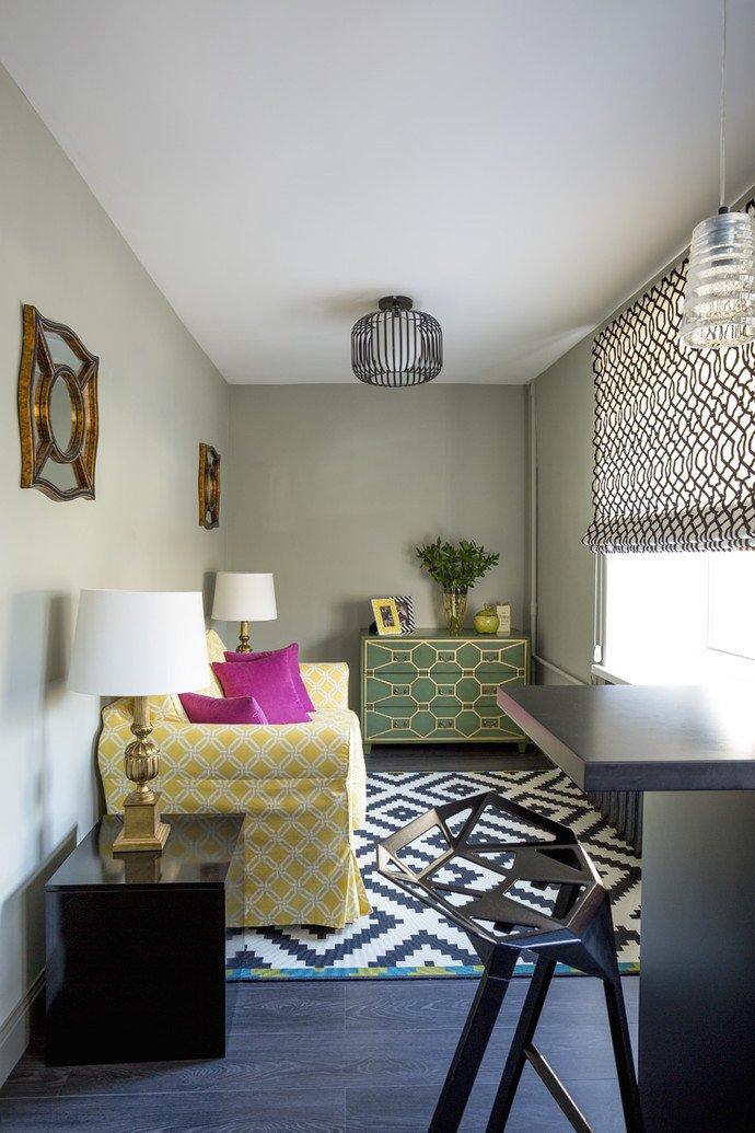 Фотография: Гостиная в стиле Эклектика, Квартира, Дома и квартиры, IKEA, Проект недели, Перепланировка, Москва, Zara Home – фото на INMYROOM