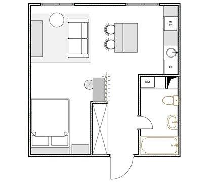 Фотография: Планировки в стиле , Современный, Малогабаритная квартира, Квартира, Студия, Проект недели, Красногорск, до 40 метров, Элина Богомолова – фото на INMYROOM