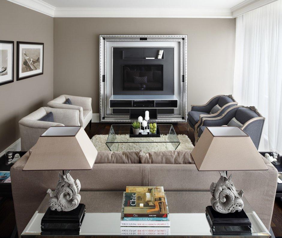 Фотография: Гостиная в стиле , Квартира, Текстиль, Дома и квартиры – фото на INMYROOM