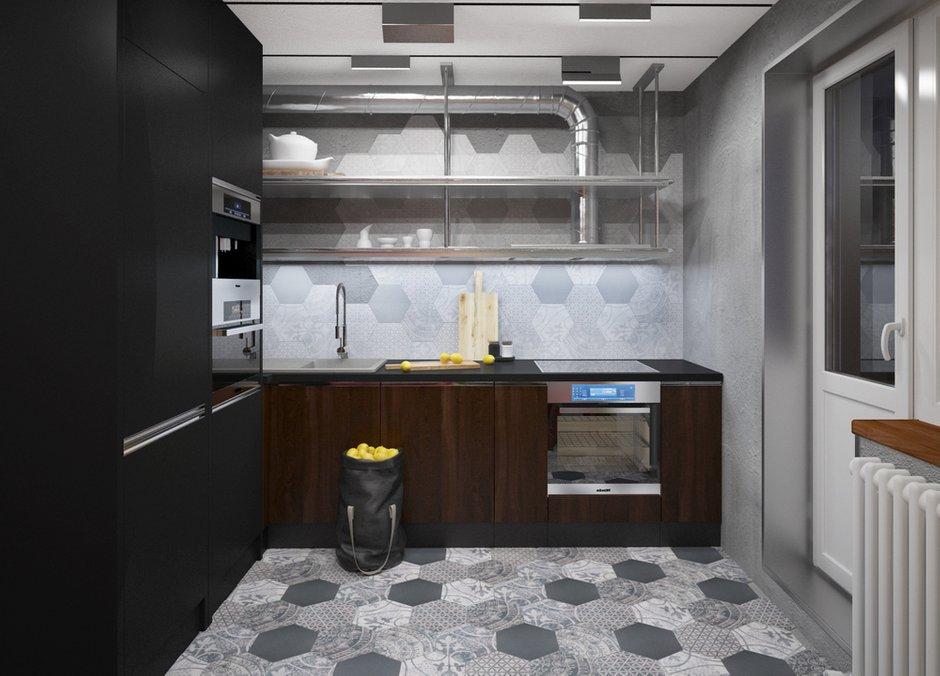Фотография: Кухня и столовая в стиле Лофт, Проект недели, П-3М, GM-Interior – фото на INMYROOM
