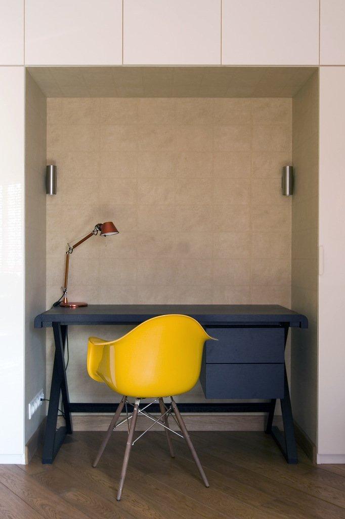 Фотография: Офис в стиле Современный, Лофт, Малогабаритная квартира, Квартира, Дома и квартиры, Проект недели – фото на INMYROOM