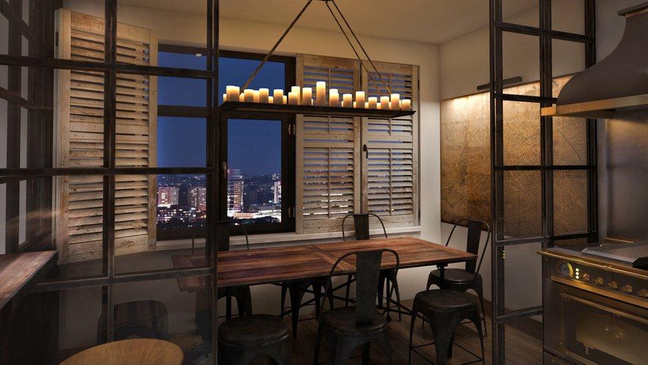 Фотография: Кухня и столовая в стиле Современный, Лофт, Квартира, Дома и квартиры, Проект недели, Перепланировка, Переделка, КТ – фото на INMYROOM