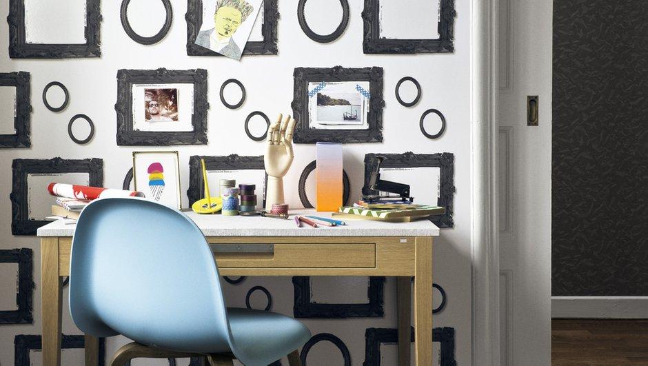 Фотография: Офис в стиле Классический, Скандинавский, Современный, Эклектика, Декор интерьера, Дизайн интерьера, Цвет в интерьере, Обои, Стены, Эко – фото на INMYROOM