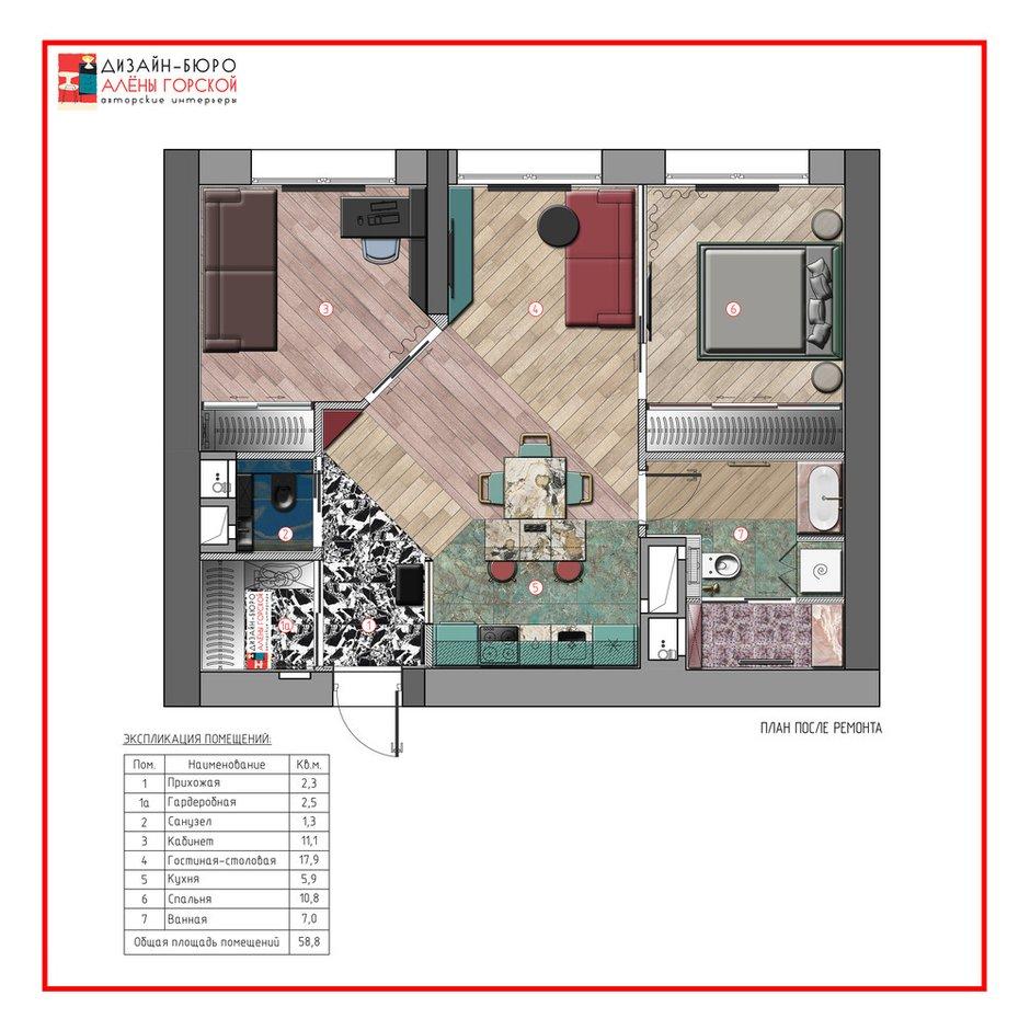 Фотография: Планировки в стиле , Эклектика, Декор интерьера, Квартира, Проект недели, Москва, 3 комнаты, 60-90 метров, Алена Горская – фото на INMYROOM