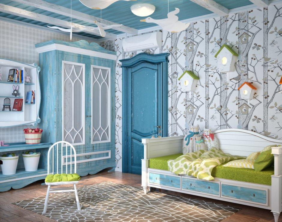 Фотография: Детская в стиле Прованс и Кантри, Квартира, Дома и квартиры, Проект недели, Средиземноморский – фото на INMYROOM
