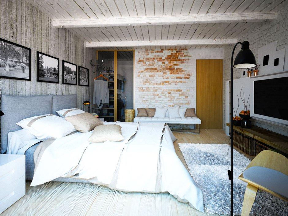 Фотография: Спальня в стиле Лофт, Квартира, Дом, Дома и квартиры, Проект недели – фото на InMyRoom.ru
