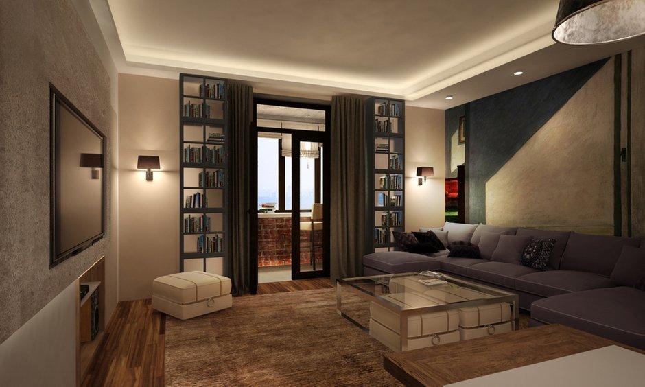 Фотография: Гостиная в стиле Современный, Квартира, Дома и квартиры, Проект недели, Переделка – фото на INMYROOM