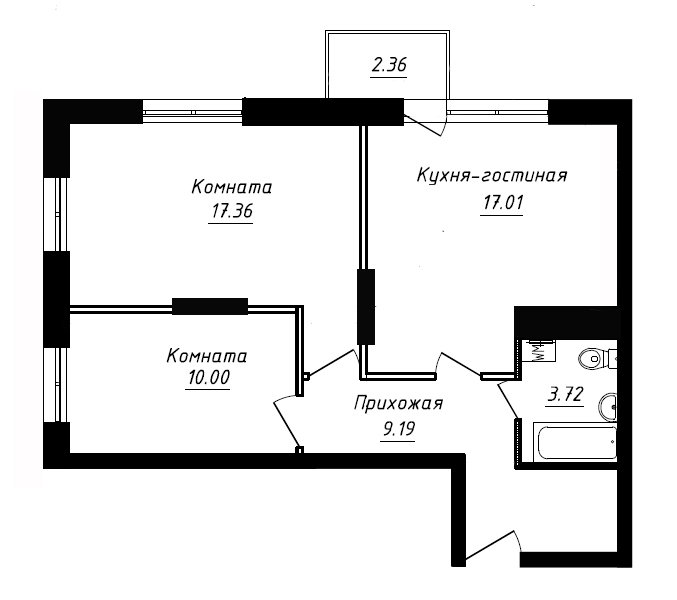 Изначальная планировка квартиры