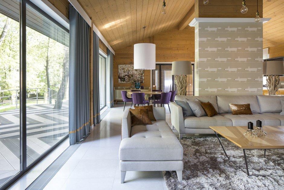 Фотография: Гостиная в стиле Современный, Дом, 4 и больше, Более 90 метров, Студия TS Design, #эксклюзивныепроекты – фото на INMYROOM