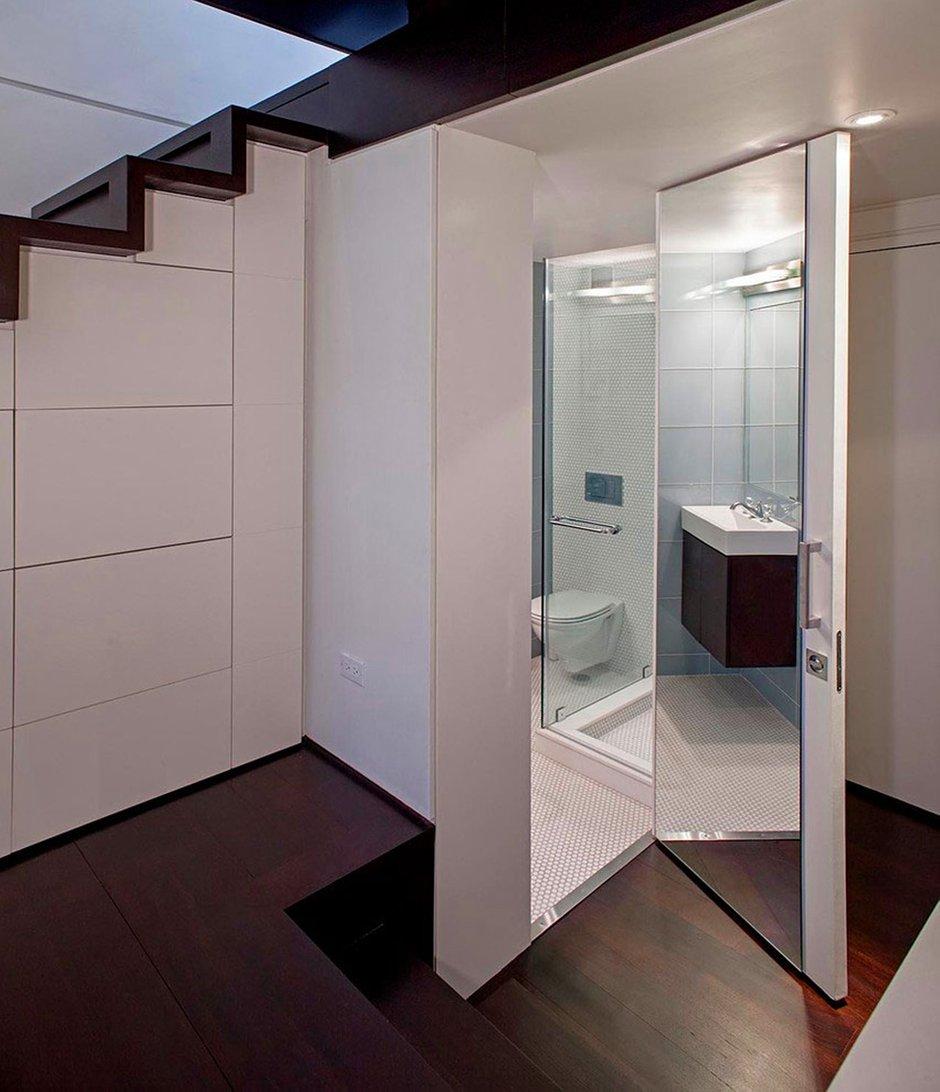 Фотография: Ванная в стиле Современный, Квартира, Дома и квартиры, Перепланировка – фото на INMYROOM