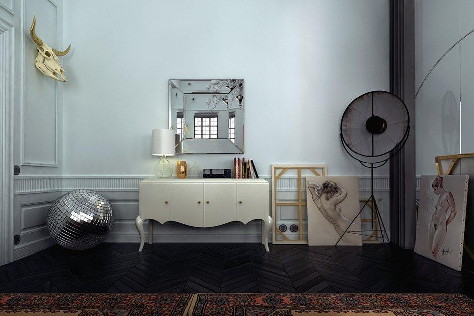Фотография: Мебель и свет в стиле Эклектика, Квартира, Дома и квартиры, Проект недели – фото на InMyRoom.ru