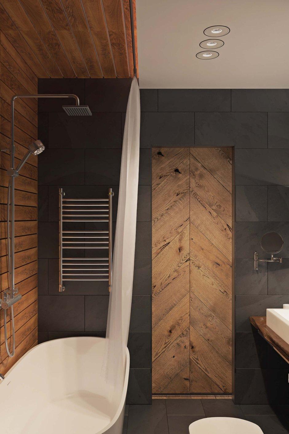 Фотография: Ванная в стиле Лофт, Квартира, Проект недели, Одинцово, Geometrium, Московская область, Монолитный дом, 2 комнаты, 60-90 метров – фото на INMYROOM