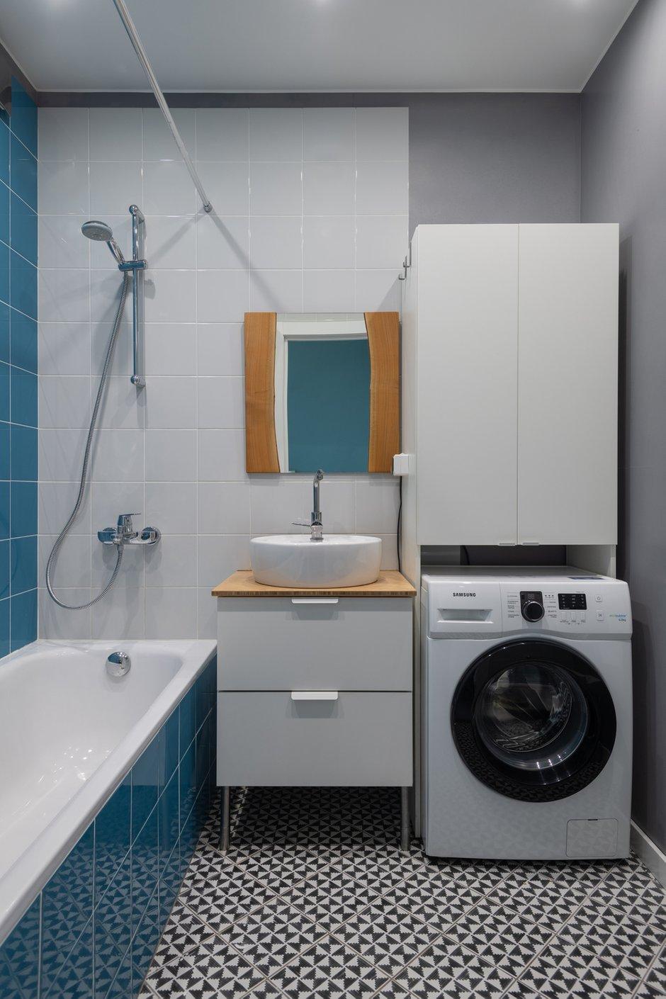 Фотография: Ванная в стиле Современный, Лофт, Квартира, Студия, Проект недели, Мытищи, 40-60 метров, Влада Загайнова – фото на INMYROOM