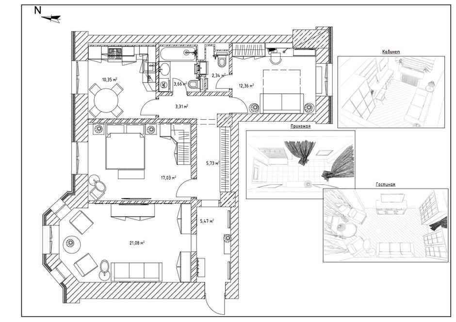 План с расстановкой мебели