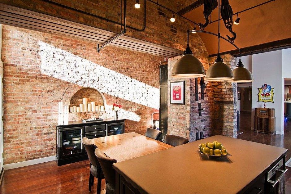 Фотография: Кухня и столовая в стиле Лофт, Квартира, Дома и квартиры – фото на INMYROOM