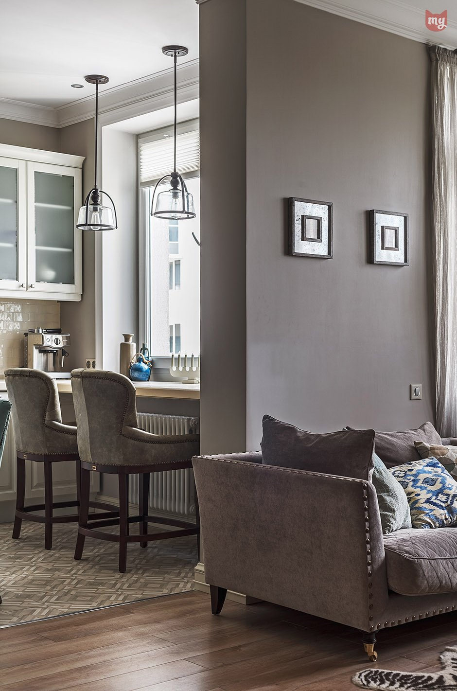 Фотография: Кухня и столовая в стиле Прованс и Кантри, Квартира, Проект недели, Наталья Сорокина – фото на INMYROOM