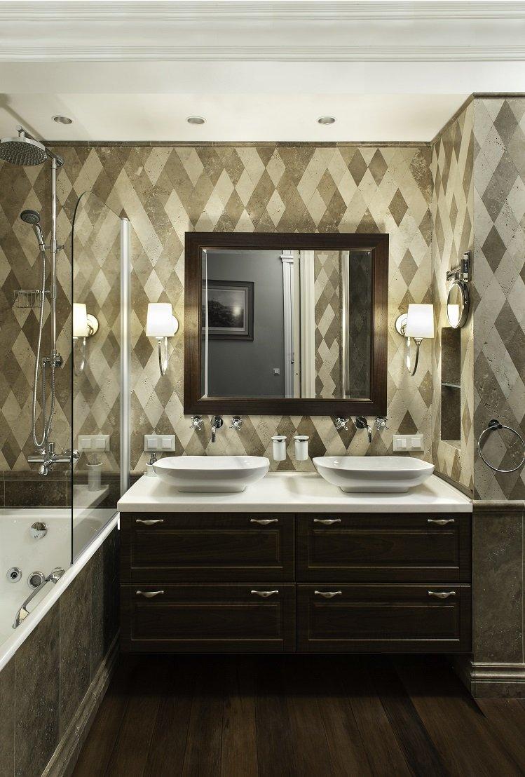 Фотография: Ванная в стиле Современный, Эклектика, Квартира, Дома и квартиры – фото на INMYROOM
