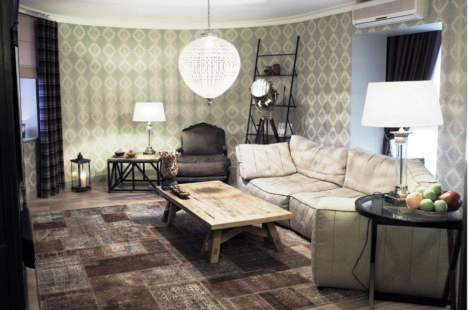 Фотография: Гостиная в стиле Современный, Квартира, Eichholtz, Spiridon, Дома и квартиры, Проект недели – фото на INMYROOM