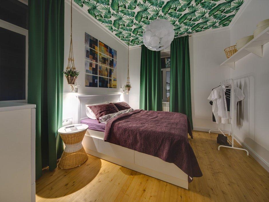 Фотография: Спальня в стиле Скандинавский, Эклектика, Малогабаритная квартира, Квартира, Проект недели, Киев, Старый фонд, Кирпичный дом, Майя Баклан, 2 комнаты, 40-60 метров – фото на INMYROOM