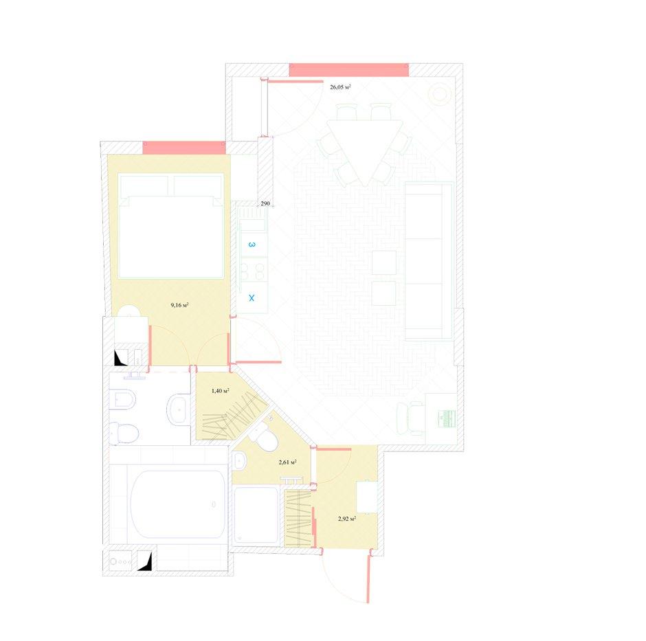 Фотография: Планировки в стиле , Классический, Квартира, Россия, Проект недели, Москва, Наталья Медведева, «АПРИОРИ дизайн», белый интерьер – фото на INMYROOM