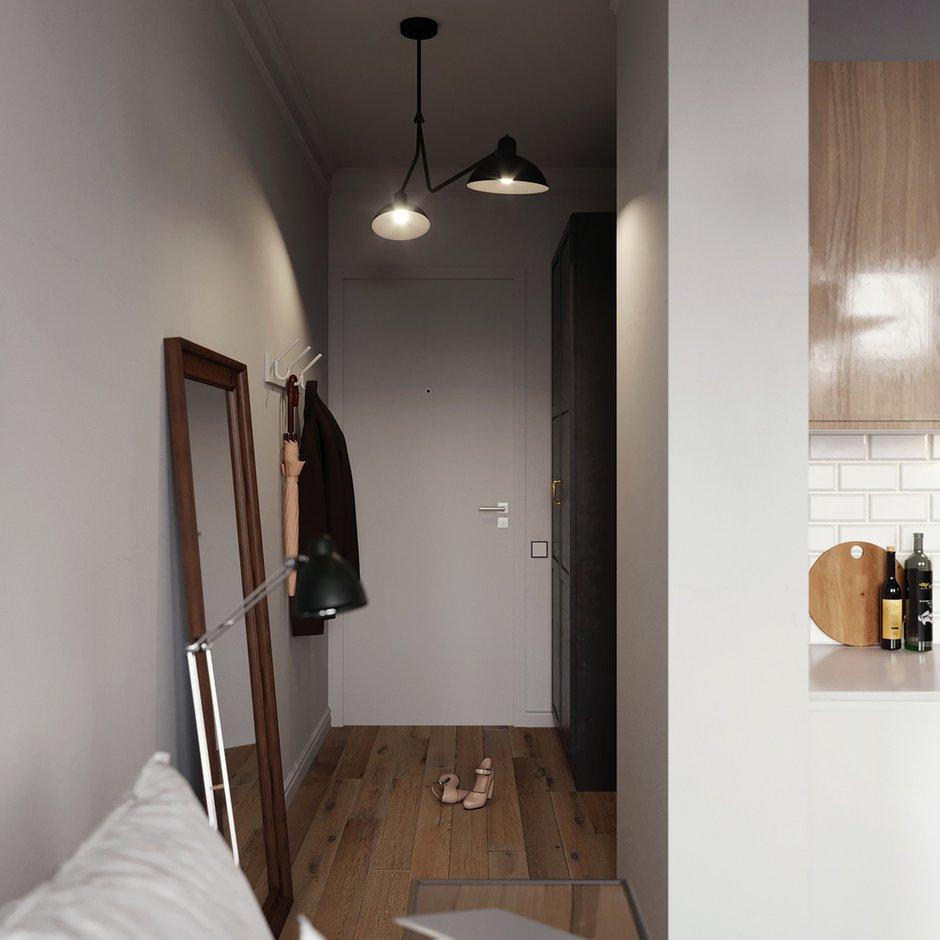 Фотография: Прихожая в стиле Скандинавский, Малогабаритная квартира, Квартира, Студия, Проект недели, Москва, Монолитный дом, до 40 метров, Anova Interior Design – фото на INMYROOM