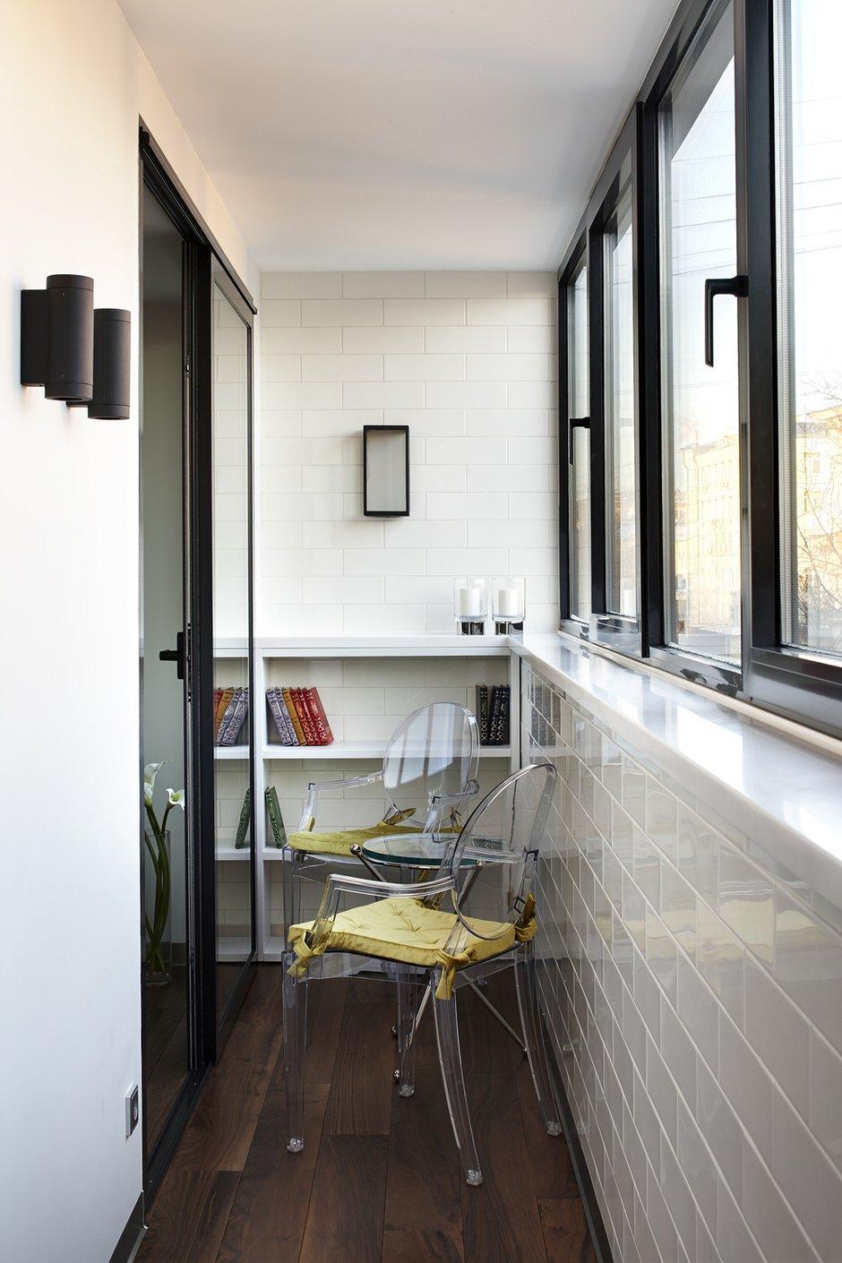 Фотография: Балкон в стиле Современный, Квартира, Проект недели, Москва, Кирпичный дом, 1 комната, 40-60 метров, Студия TS Design – фото на INMYROOM