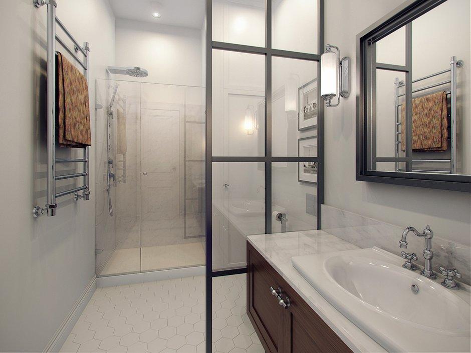 Фотография: Ванная в стиле Скандинавский, Современный, Малогабаритная квартира, Квартира, Дома и квартиры, Проект недели – фото на INMYROOM