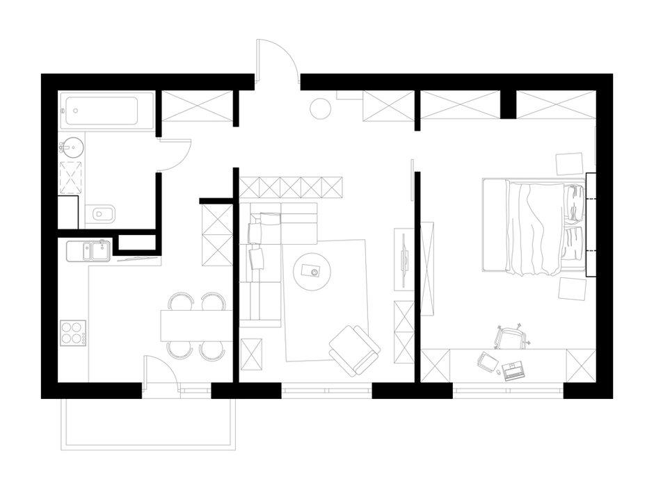 Фотография: Планировки в стиле , Квартира, Дома и квартиры, Москва – фото на INMYROOM