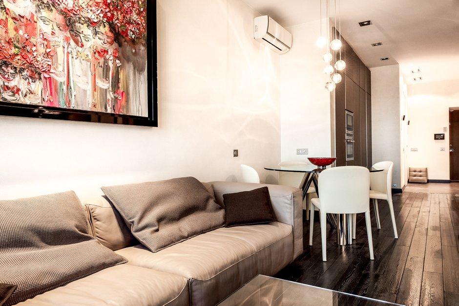 Фотография: Гостиная в стиле Современный, Квартира, Дома и квартиры, Roommy.ru, Porada – фото на InMyRoom.ru