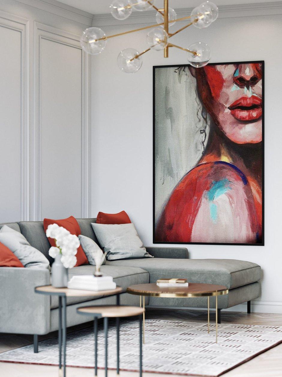 Фотография: Гостиная в стиле Современный, Квартира, Проект недели, Москва, 4 и больше, Более 90 метров, Диана Бганова – фото на INMYROOM