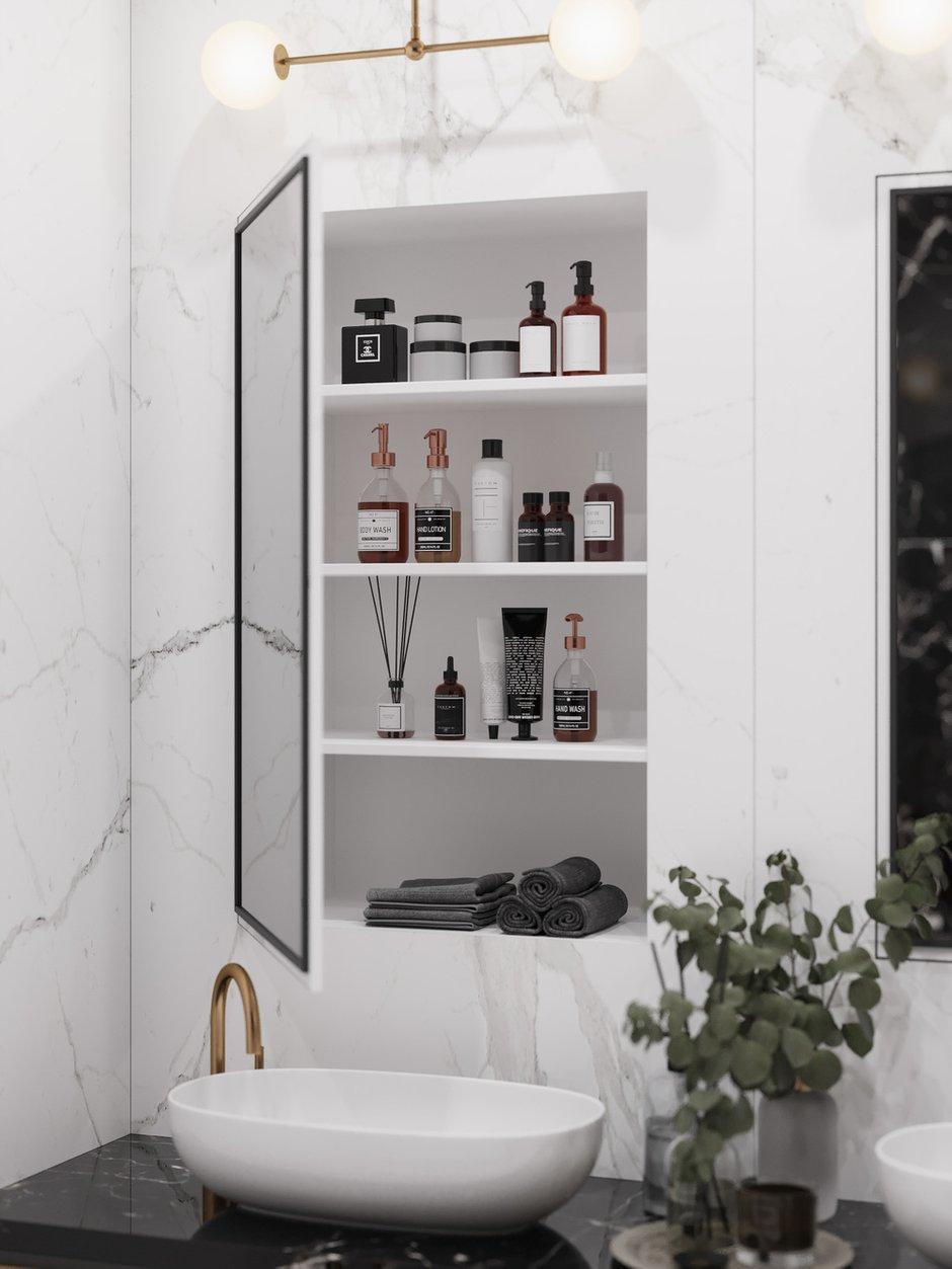 Фотография: Ванная в стиле Современный, Квартира, Проект недели, Москва, 4 и больше, Более 90 метров, Диана Бганова – фото на INMYROOM